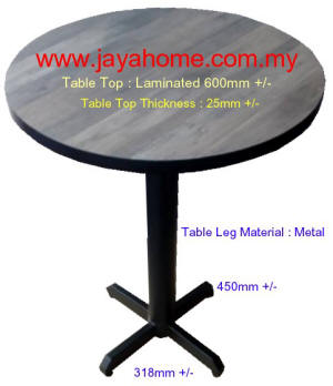 Cafe TABLE 600MM ROUND